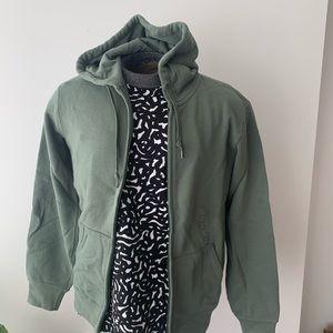 Uniqlo Men's Sweatshirt full zip Green